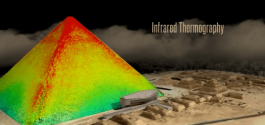 Thermal Scans of the Great Pyramids of Giza Reveal Impressive Anomaly