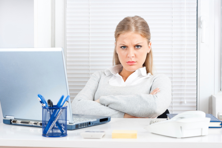 Frowning at Work