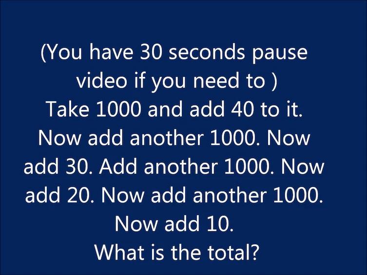 Math While Thinking