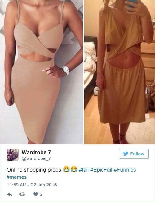 Online shopping reality