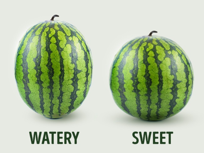watermelons are also determined by genders