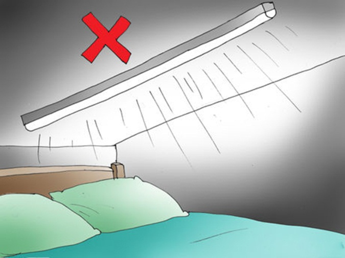 Your bedroom ceiling should never have protruding beams