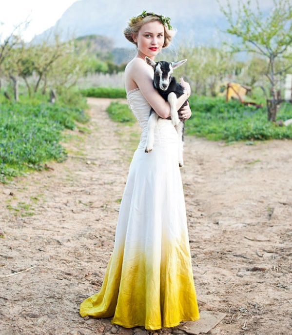 dip dye wedding dresses
