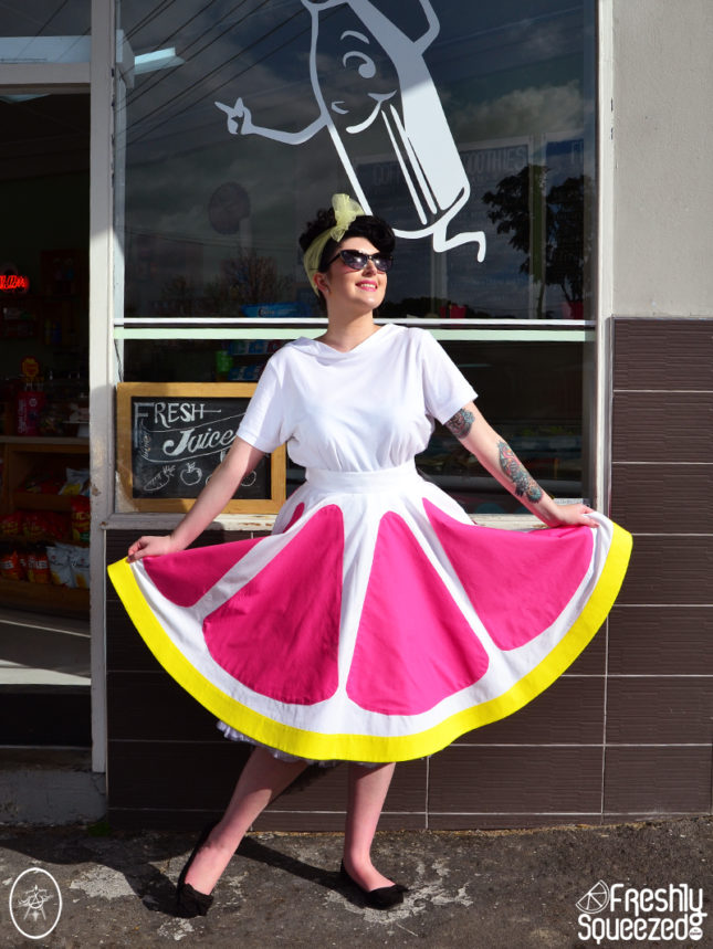 Pink Grapefruit Fizz Swing Skirt | Devel Women