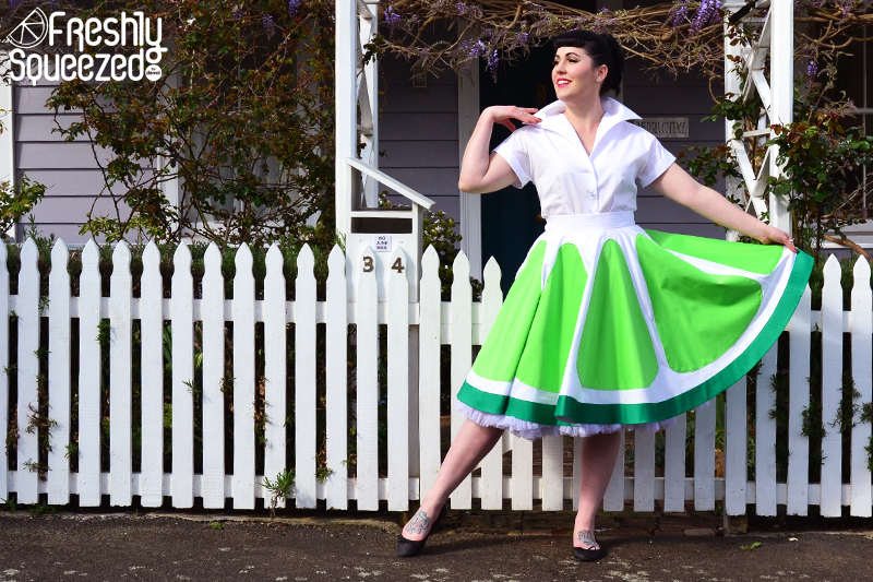 Lime Soda Full Skirt | Devel Women