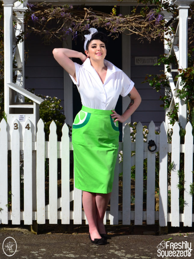 Lime Soda Wiggle Skirt | Devel Women