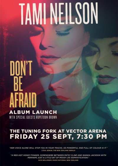 Tami Neilson Don't Be Afraid Album Launch Poster