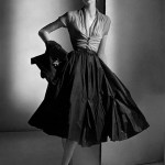 Ruched Blouse and Full Skirt by Dior 1952