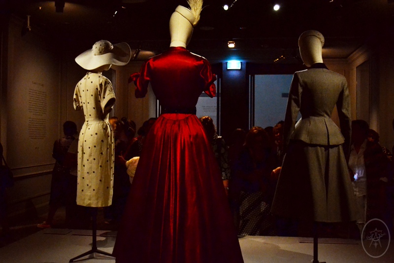 1940s and 1950s garments by Dior, at NGV International, Melbourne, Australia