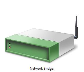 network bridge software adapter (Windows 10 control panel)