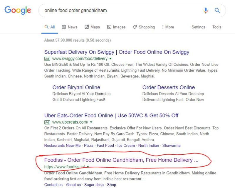 online food order gandhidham