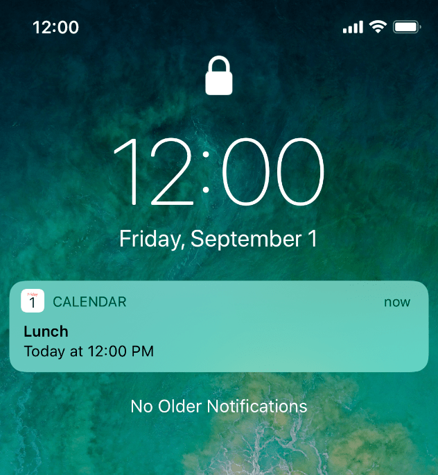 notifications system capabilities ios
