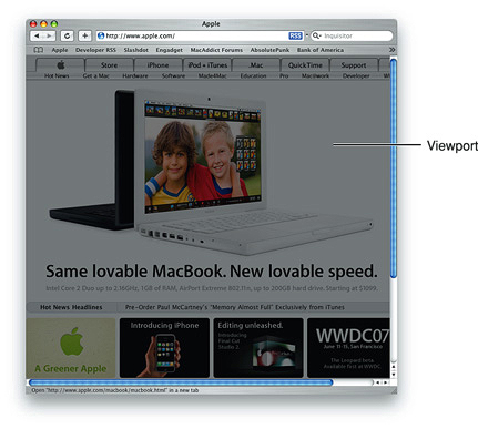 Safari on desktop viewport