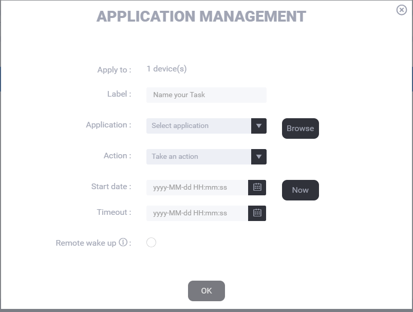 Remote management of Java applications with Module