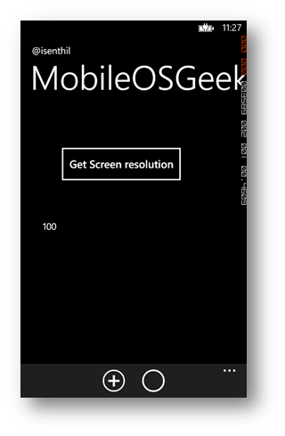 How to retreive the Screen Resolution of Windows Phone 8 using C# ?
