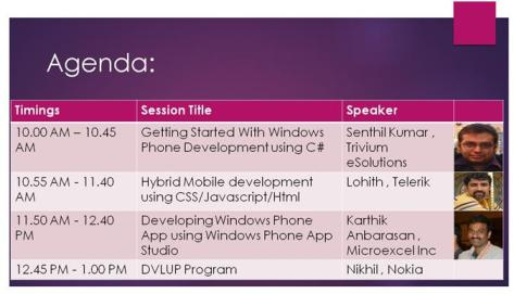 Mobile Application Development using Microsoft Technologies Session at Christ University