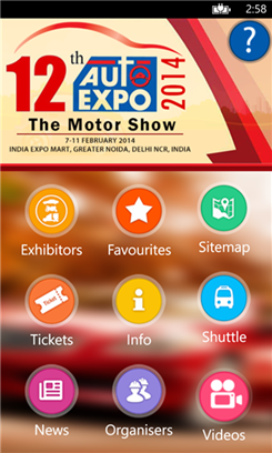 Auto Expo'14 - The Motor Show 2014 App for Windows Phone 8