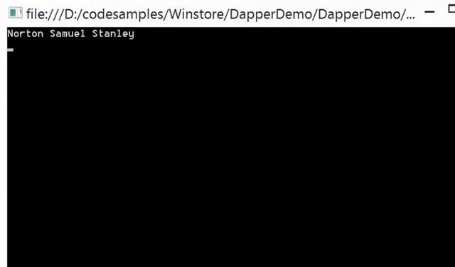 Dapper NET Guide - Update Record