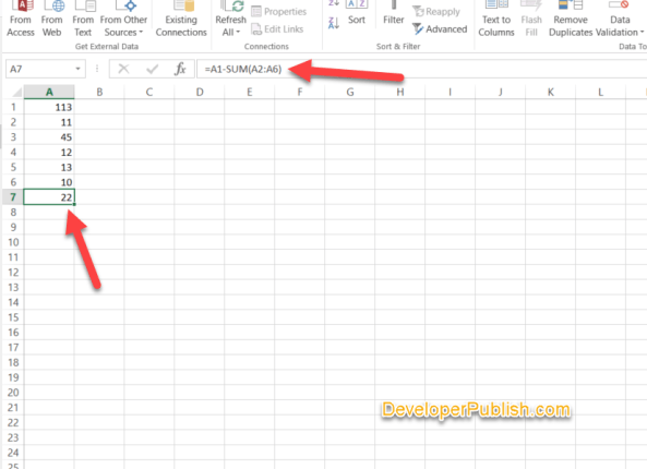 How to Subtract in Excel ?
