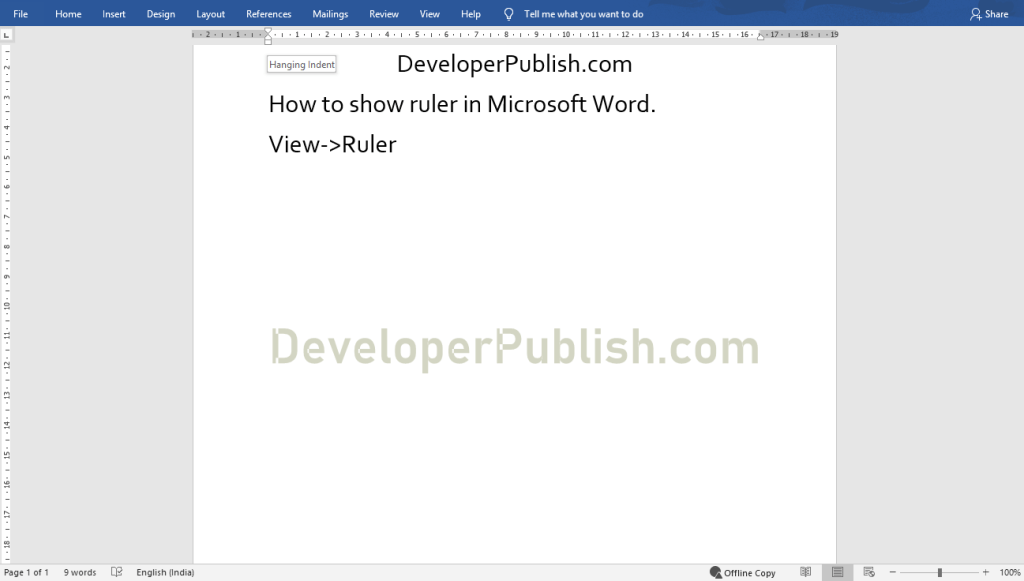 How to Show Ruler in Microsoft Word?