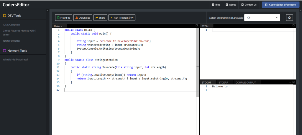How to Truncate a string in C#?