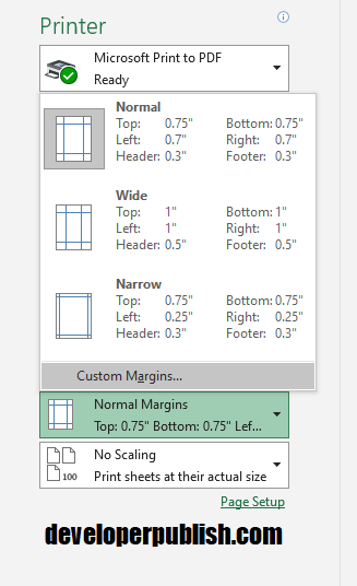 Center on Page in Excel