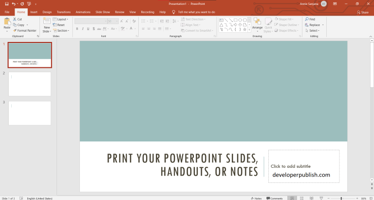 Print out PowerPoint Slides, Handouts, and Notes