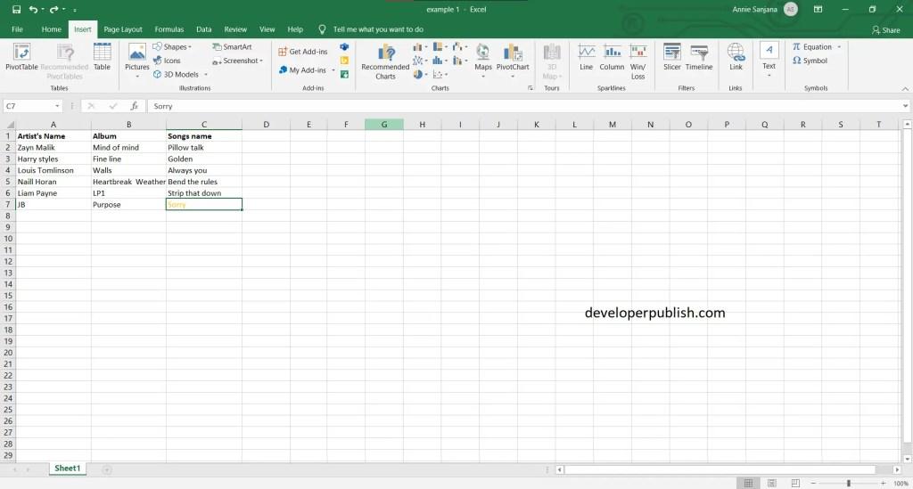 Task Panes in Excel