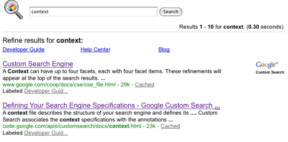 ... Google Custom Search Engine Filter Example