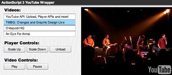 ActionScript 30 Wrapper for Chromeless Player  YouTube  Google Developers