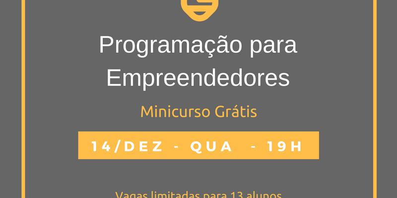 Programação para Empreendedores 14/12/16