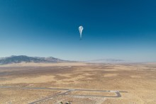 Loon's balloon over Peru