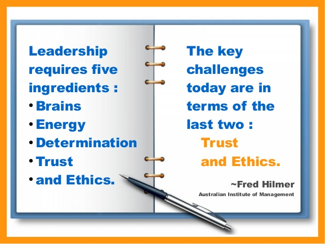 The Importance Of Trust And Ethics In Leadership Fred