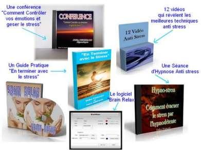 Programme complet pour apprendre à gérer le stress et l'anxiété. Conférence video anti stress hypnose set solution contre le stress