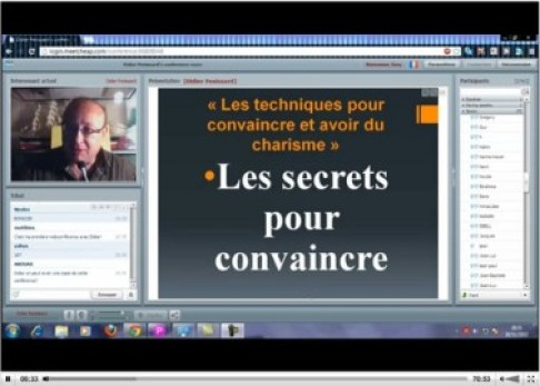 Téléconférence en live 28/11 « Les meilleures techniques pour convaincre »