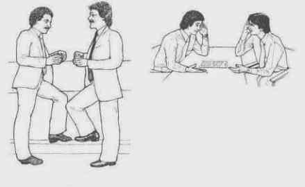 technique d'influence par la pnl la technique de la synchronisation (bien connue en PNL) consiste à adopter discrètement les mêmes attitudes corporelles de son interlocuteur