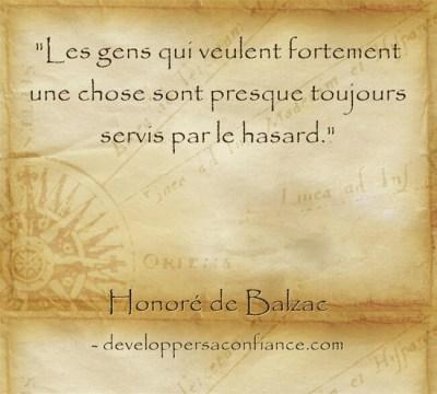 citation de Balzac sur la loi de l'attraction et la puissance du désir