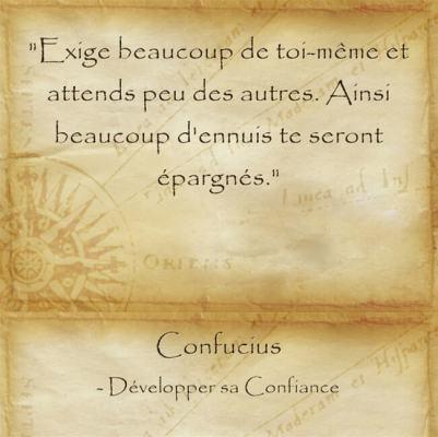 Citation de sagesse de Confucius sur l'exigence envers soi-même