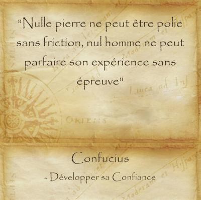 Citation du sage Confucius sur le prix à payer