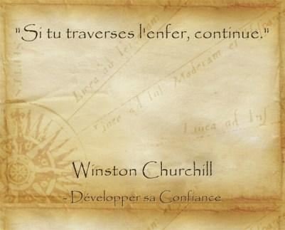 citation de Churchill pour encourager à persévérer dans la difficulté