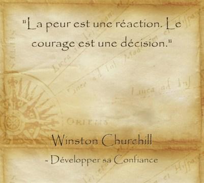 Citation de Churchill sur la peur et le courage