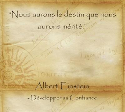 Citation d'Albert Einstein sur le fait de se créer sa vie