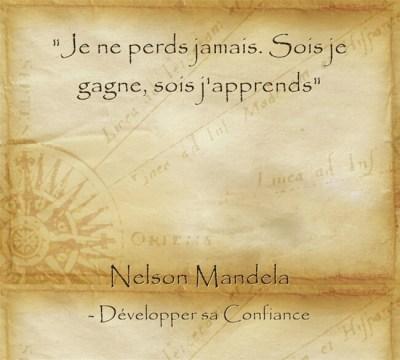 Citation de Nelson Mandela pour apprendre dans l'échec