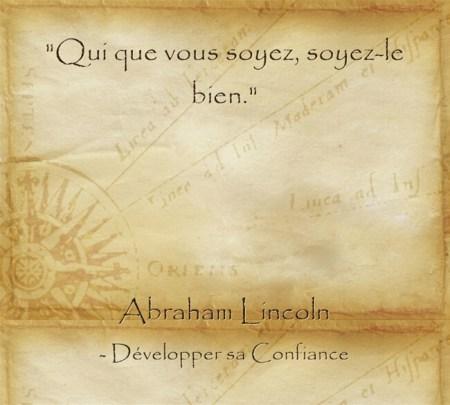 Citation d'Abraham Lincoln sur l'importance de faire le bien