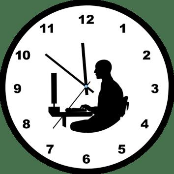 Image symbole du rythme du boulot