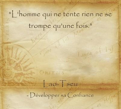 Citation de Lao Tseu pour changer de vie