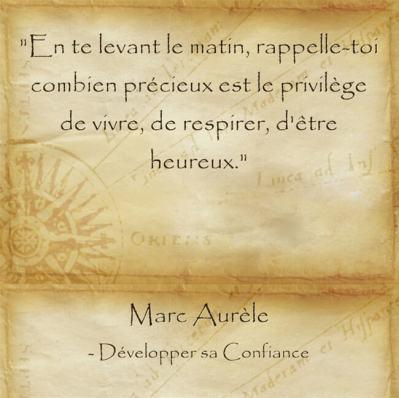 Citation de Marc Aurèle sur la chance de vivre et le bonheur