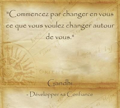 Citation de Gandhi pour commencer à évoluer