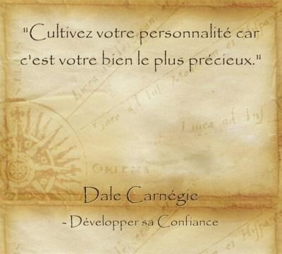 Citation de Dale Carnegie sur l'importance de se développer