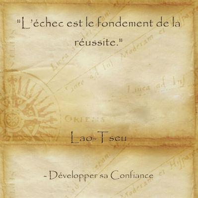 citation de Lao Tseu sur la vertu d'échouer